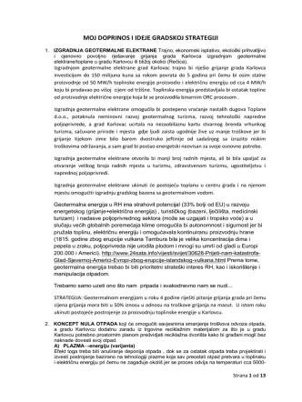 4.) Moj doprinos izradi strategije grada Karlovca