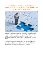 Primjena NLP-a u terapijskom radu