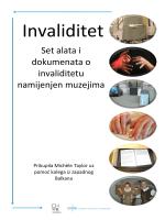 Set alata i dokumenata o invaliditetu namijenjen muzejima