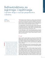 Infrastruktura za mjerenja i ispitivanja i njezina uloga u razvoju