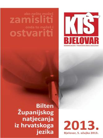 Bilten 2013-novi - Komercijalna i trgovačka škola Bjelovar