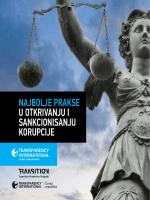 najbolje prakse u otkrivanju i sankcionisanju korupcije
