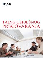 PREGOVARANJA - Door Training Hrvatska