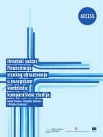 Hrvatski sustav financiranja visokog obrazovanja u europskom