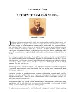 Alexandru C. Cuza - Antisemitizam kao nauka.pdf