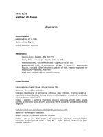 Biografija u Pdf formatu – CV