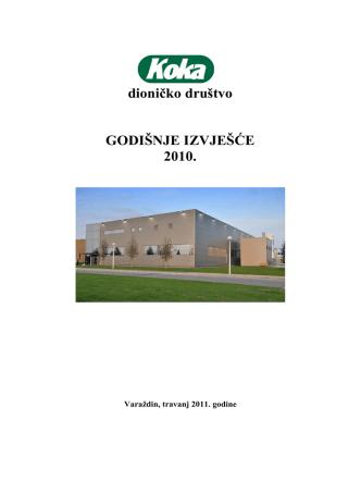 8 KOKA d.d Izvještaj Uprave za 2010 godinu