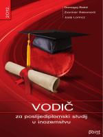Vodic za poslijediplomski studij u inozemstvu
