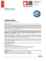 JUPOL Gold - tehnički list