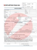 Zahtjev za kredit.pdf - UniCredit Bank Banja Luka