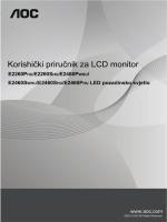 OSD podešavanje - produktinfo.conrad.com
