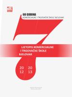 ljetopis komercijalne i trgovačke škole bjelovar 60 godina