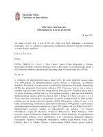 1 Republika Srbija Tužilaštvo za ratne zločine VIŠI SUD U