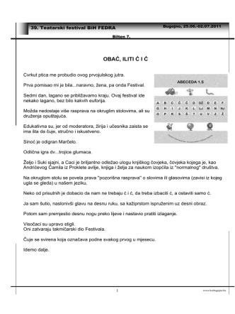 Bilten br.7 u pdf formatu. - KSC
