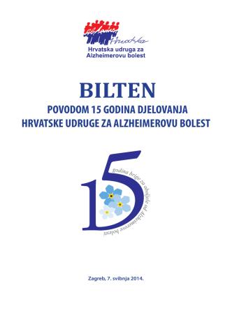 BILTEN - Hrvatska udruga za Alzheimerovu bolest