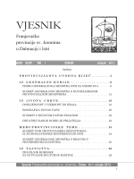 VJESNIK - Franjevačka provincija Sv. Jeronima u Dalmaciji i Istri