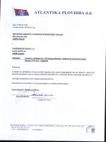 prijava stjecanja dionica - Atlantska plovidba dd Dubrovnik