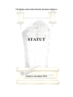 STATUT - Udruzenje nastavnika historije Kantona Sarajevo