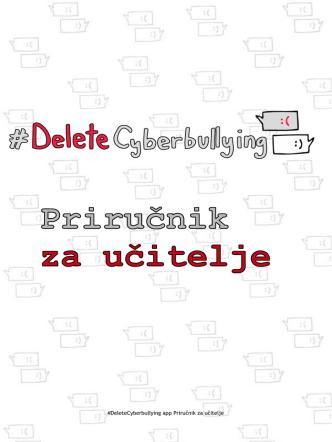 #DeleteCyberbullying app Priručnik za učitelje