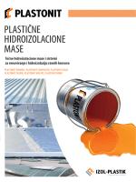 PLASTIČNE HIDROIZOLACIONE MASE - IZOL