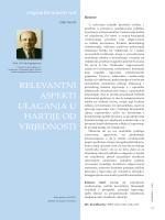 relevantni aspekti ulaganja u hartije od vrijednosti