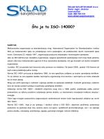 Što je to ISO 14001? - Sklad savjetovanje doo