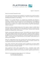 Platforma 112 - Otvoreno pismo predsjednici RH