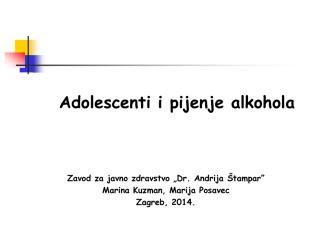 Adolescenti i pijenje alkohola