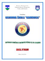 bilten - Osnovna škola Kamenica