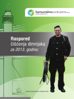 Raspored čišćenja dimnjaka - Komunalno poduzeće Križevci