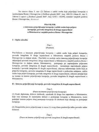 (2) Zakona o zaštiti osoba koja prijavljuju` korupciju u institucijama