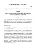Uredba o kriterijima za dodjeljivanje državnih nagrada za vrhunska