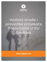 Voditelj izrade i provedbe projekata financiranih iz EU