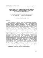 279 preferencije potrošača i zastupljenost voćnih vina u