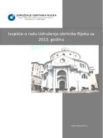 izvješće o radu 2013. - Udruženje obrtnika Rijeka