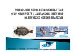 Potencijalni socio-ekonomski utjecaji nekih novih vrsta u jadranskoj