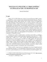 socijalna politika u procjepima globalizacije i