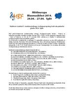 Službeni rezultati 5. međunarodnoga srednjoeuropskog festivala