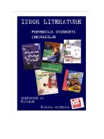 izbor literature o (ne)nasilju.pdf - Komercijalna i trgovačka škola