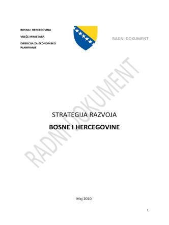 BOS-A-Strategija razvoja BiH
