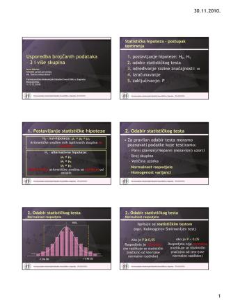 30.11.2010. 1 Usporedba brojčanih podataka – 3 i više skupina