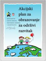 Akcijski plan za obrazovanje za održivi razvitak