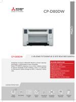 Mitsubishi - sublimacijski pisač CP-D80DW (HR) - Viva-net
