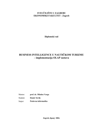 BUSINESS INTELLIGENCE U NAUTIČKOM