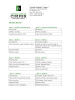 TK Cimper - ponuda menija za grupe