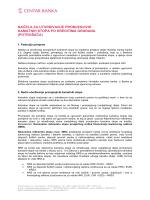 načela za utvrđivanje promjenjivih kamatnih stopa