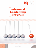 Advanced Leadership Program