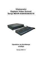 Višekanalni Digitalni Video Snimač Serija MDVR-9304