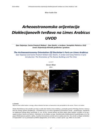 Arheoastronomska orijentacija Dioklecijanovih tvrđava