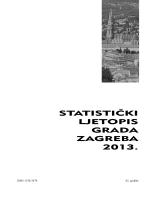 Statistički ljetopis Grada Zagreba 2013